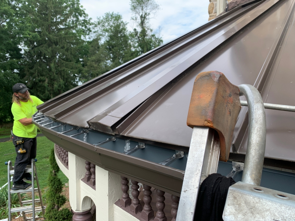 Gutters And Spouting Custom Curved Installation