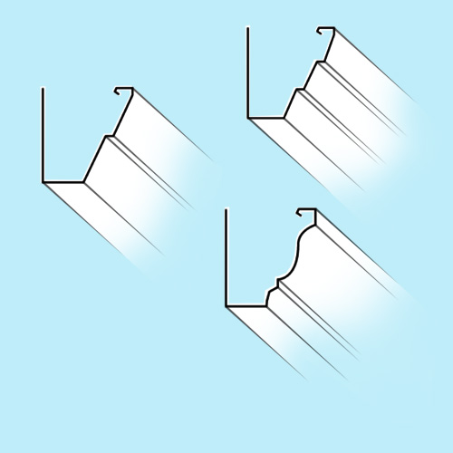 3 Gutter Profiles Available
